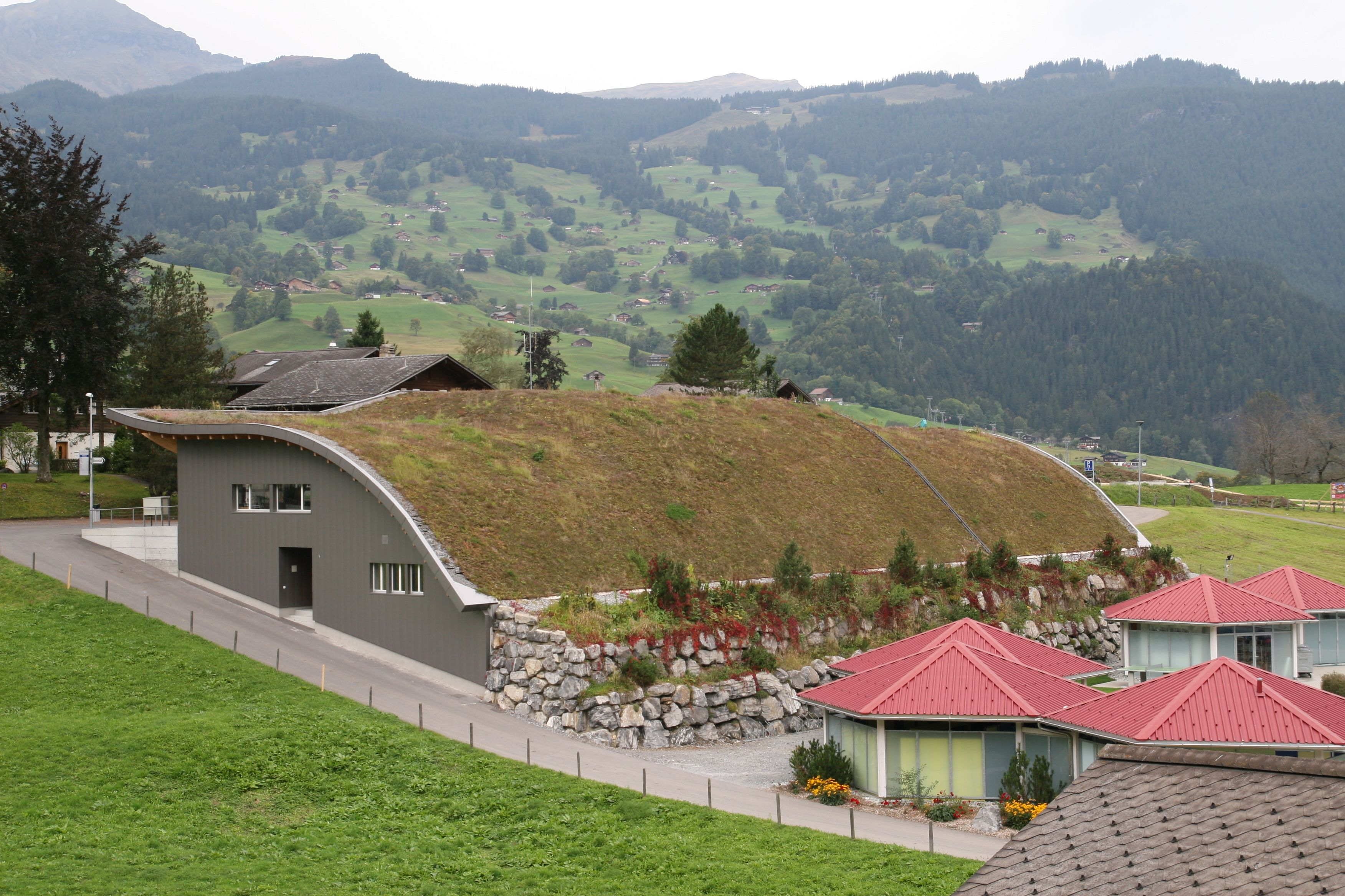 Grindelwald Green Roof Rooftop Garden Living Roof Zinco Green Roof System