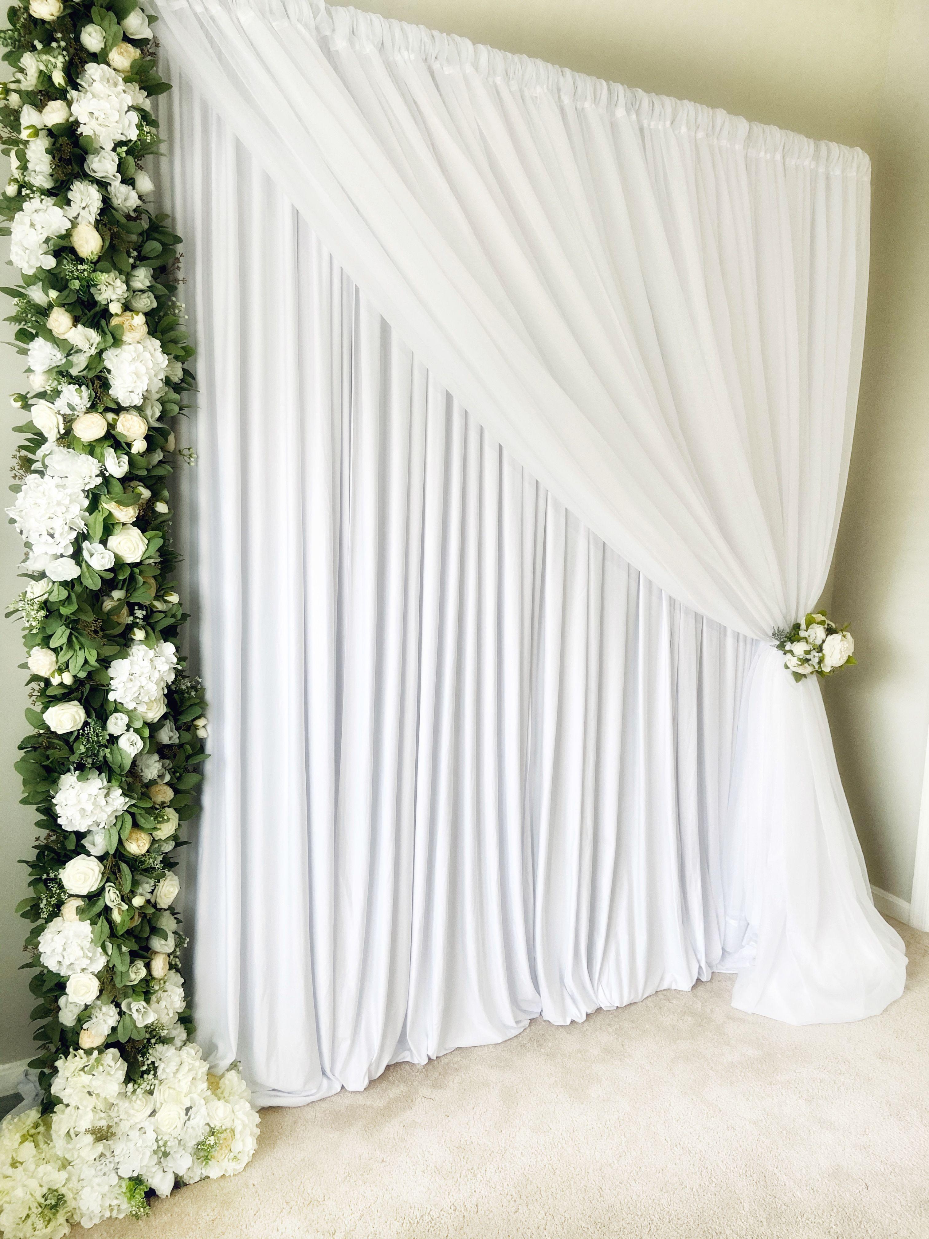 Simple Wedding Backdrop Diy Event Backdrop Party Ideas Meja Pernikahan Dekorasi Meja Pernikahan Perkawinan Sederhana
