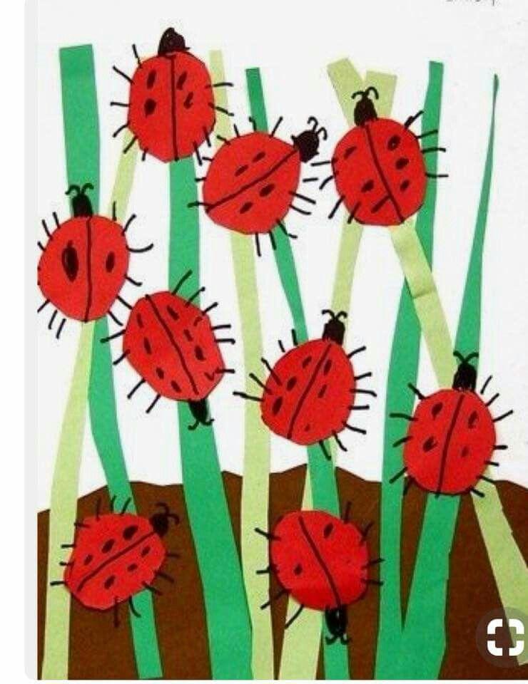 Grouchy Ladybug Art Project