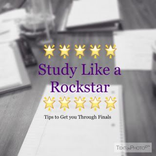Awesome Tips for Finals Week! STUDY LIKE A ROCKSTAR AND GET THOSE As! :D