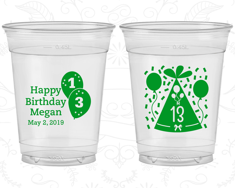 13th Birthday Soft Sided Cups Happy Birthday Confetti Birthday Disposable Birthday Cups 20115 Birthday Cup 13th Birthday Happy Birthday