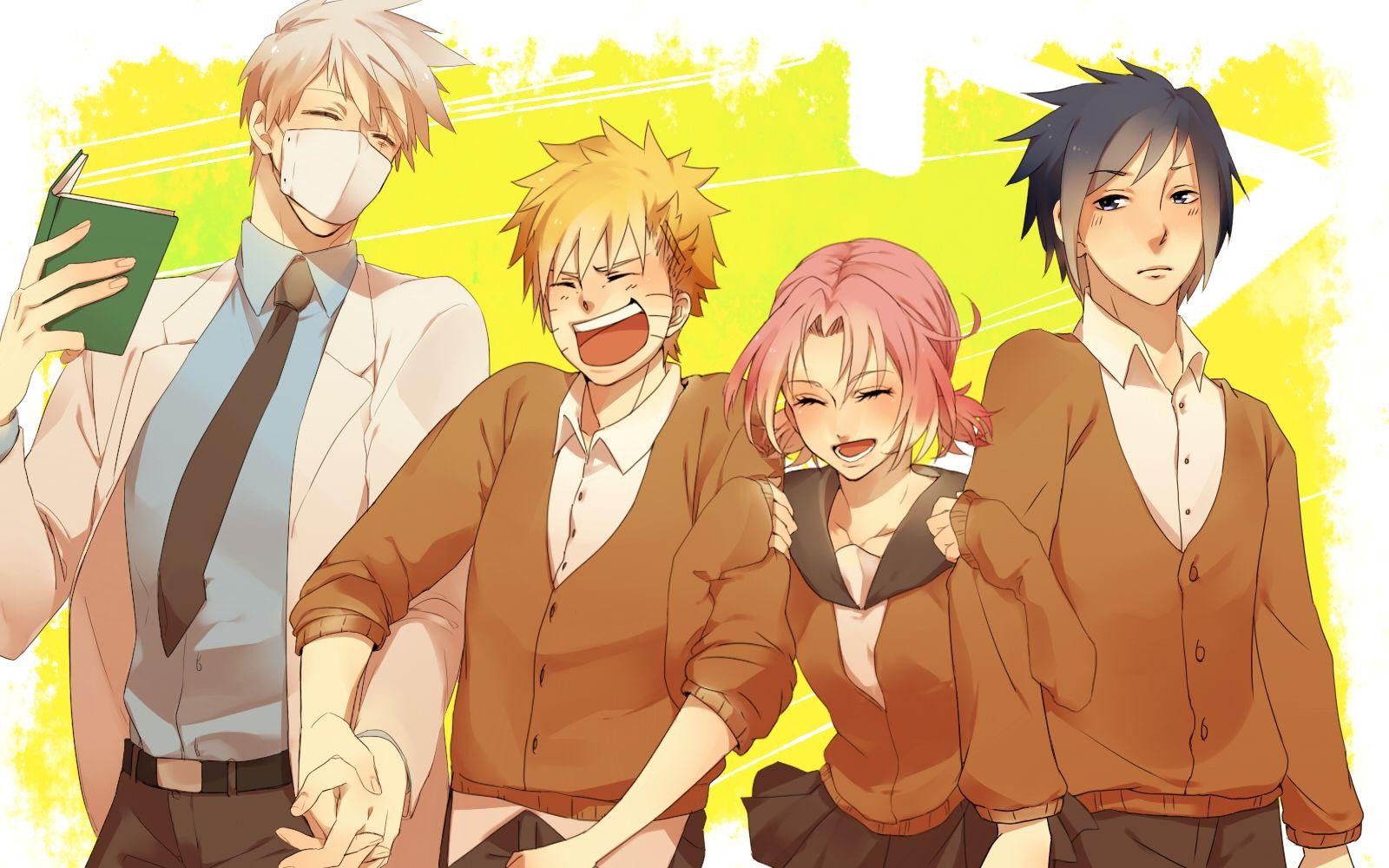 Pixiv Id 4390065, NARUTO, Hatake Kakashi, Uchiha Sasuke, Uzumaki Naruto, Haruno Sakura
