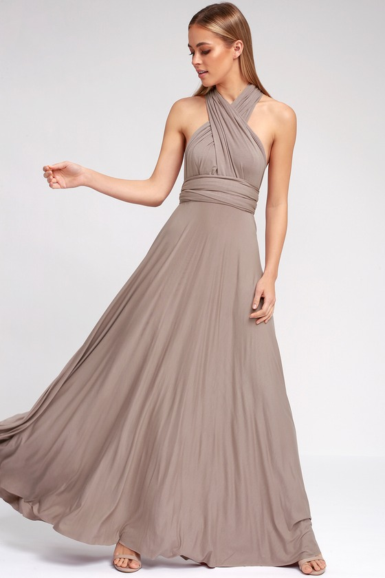 Tricks Of The Trade Taupe Maxi Dress Taupe Maxi Dress Maxi Dress Buy Bridesmaid Dresses