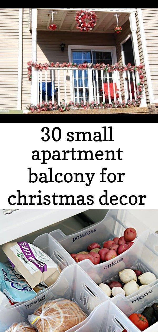 30 small apartment balcony for christmas decor 4 #smallapartmentchristmasdecor 3...