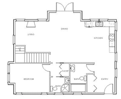 Draw Floor Plan Step 6: Plassér fast innredning (hyller
