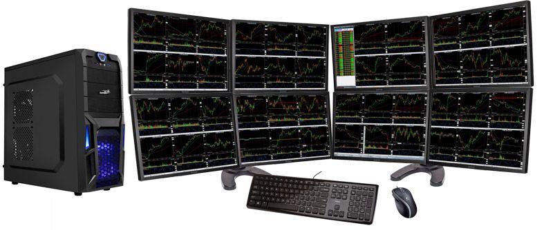 Cheap 8 Monitor Stock Trading Computer Stock Market Trading