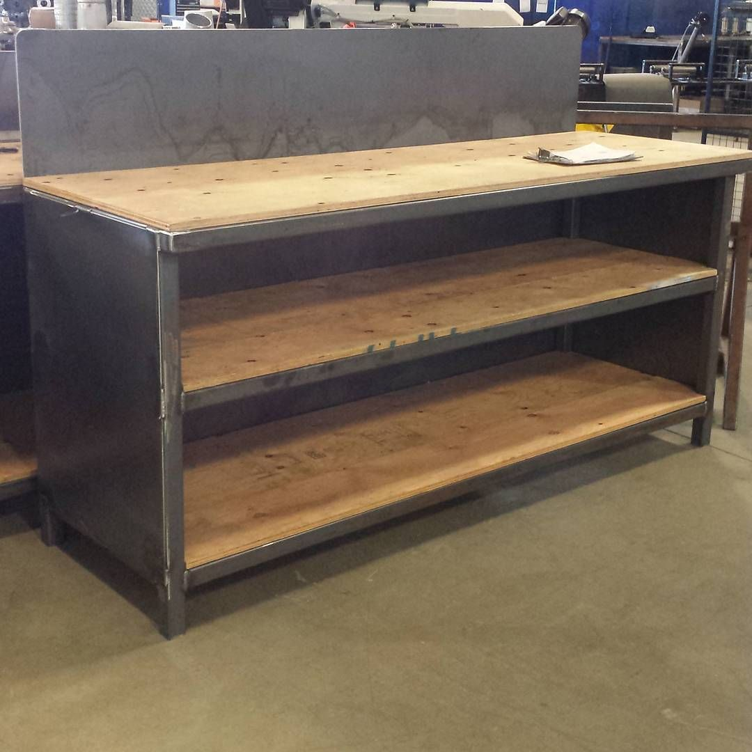 357 Likes 4 Comments Jamie Arcempire Ca On Instagram Benches I 39 Ve Been Working On They Are Hea Metal Work Bench Metal Work Table Garage Work Bench