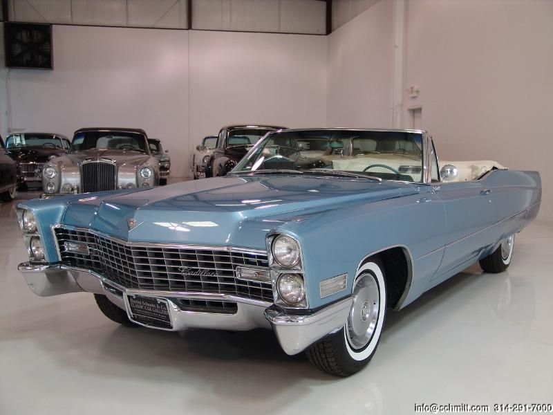 1967 cadillac coupe deville convertible in venetian blue. Black Bedroom Furniture Sets. Home Design Ideas