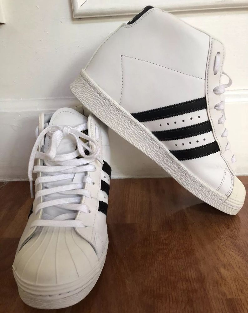 adidas superstar high white