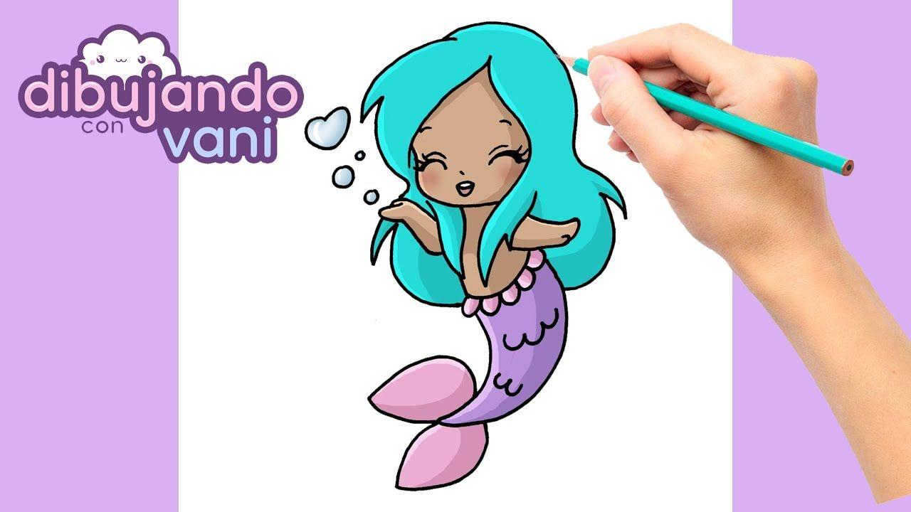 Como Dibujar Una Sirena Paso A Paso Dibujos Para Dibujar Imagenes Fa Dibujo Paso A Paso Sirenas Kawaii