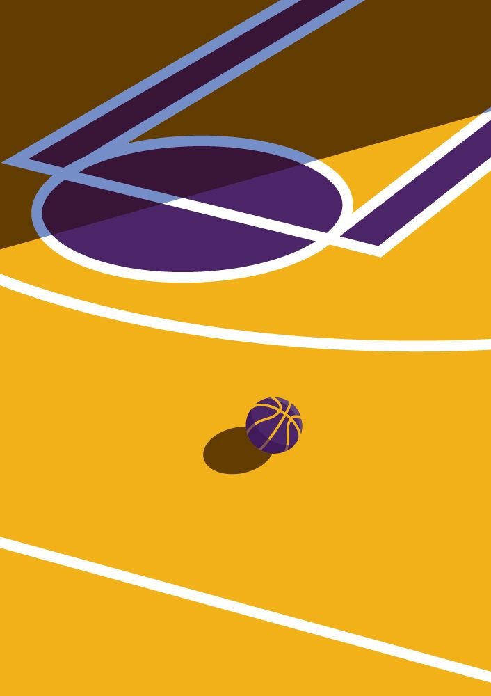 Los Angeles Lakers Basketball Court Printable Downloadable ...