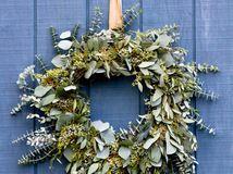 Faça um Eucalyptus grinalda do feriado de longa duração