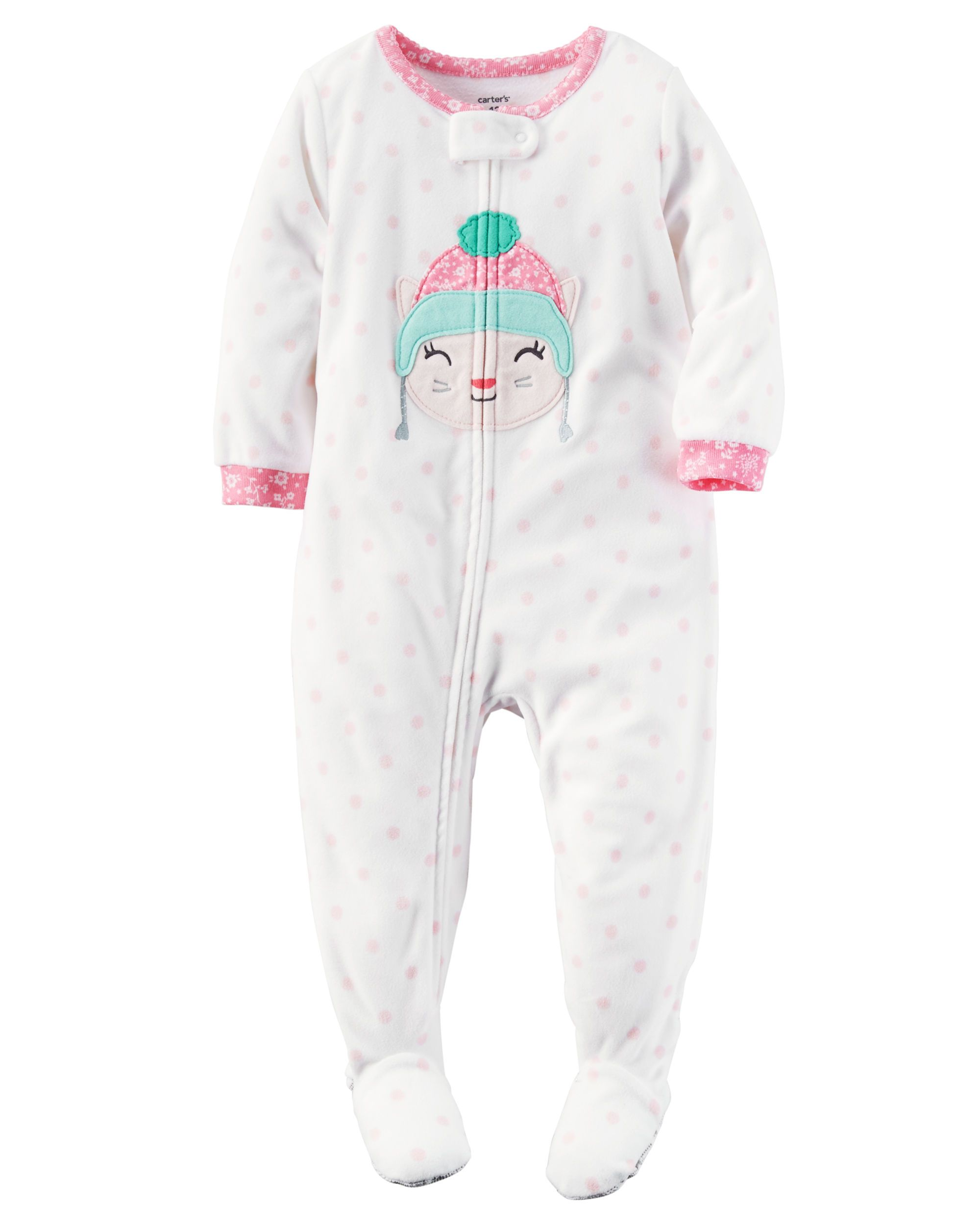 d12f007682 Crafted in snuggly fleece with an allover polka dot print
