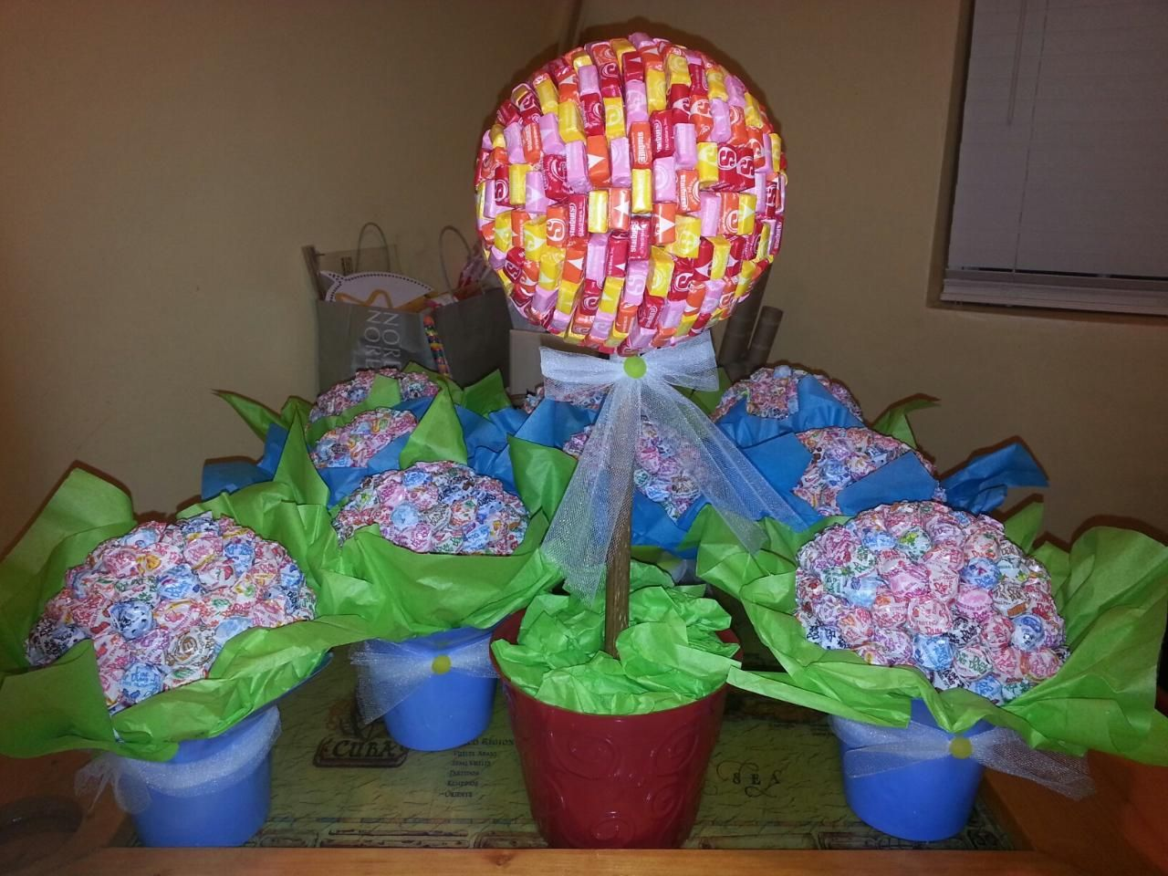 Starburst topiary for my candy land themed baby shower