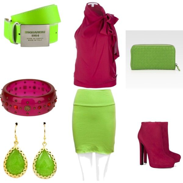 Complementary Color To Pink yellow-green and red violet complementary color scheme | #19
