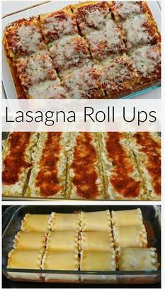 Cheesy Lasagna Roll Ups