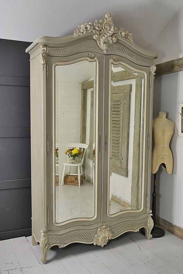 Large French Shabby Chic Knock-Down Armoire artwork | girl room ...