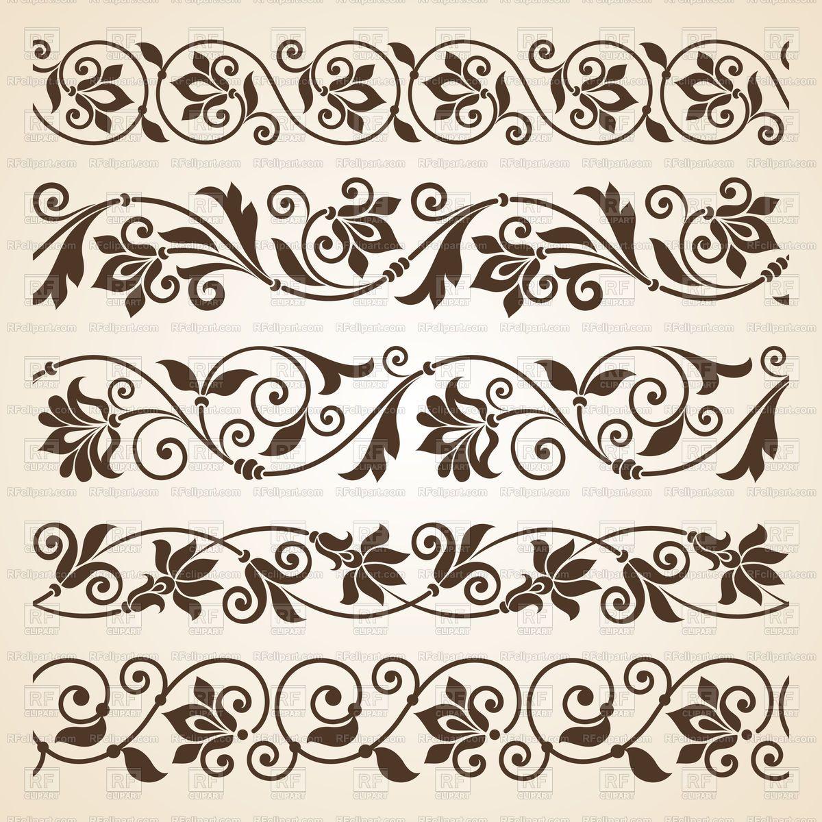 Best Of Vintage Flower Vector Border And Review 2020 Nakis Desenleri El Kina Sanat Desen