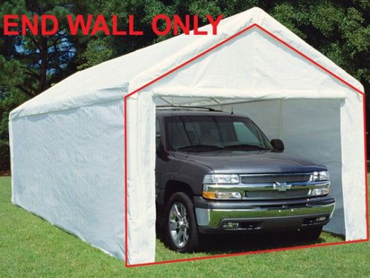 King Canopy End Wall W Zipper And Velcro For Flap 10 Wide Model