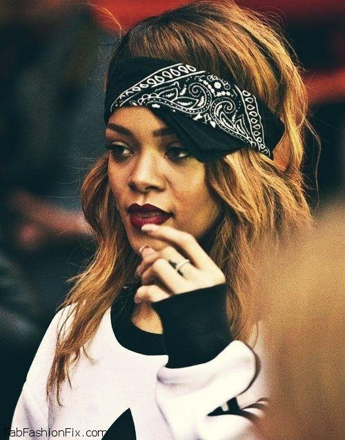 Rihanna Bandana   Funky outfits, Rihanna looks, Rihanna