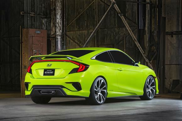 2016 Honda Civic Si Lime Green
