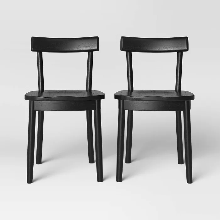 Poly And Bark Talia Dining Chair In Black Set Of 2 Hd 483 Blk X2 The Home Depot In 2021 Dining Chairs Solid Wood Dining Chairs Farmhouse Dining Chairs