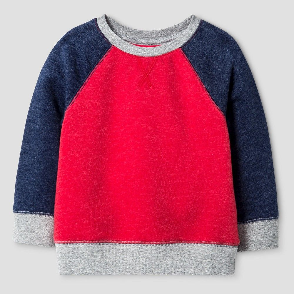 Baby Sweatshirts Cat & Jack - Red 12M, Infant, Size: 12 M