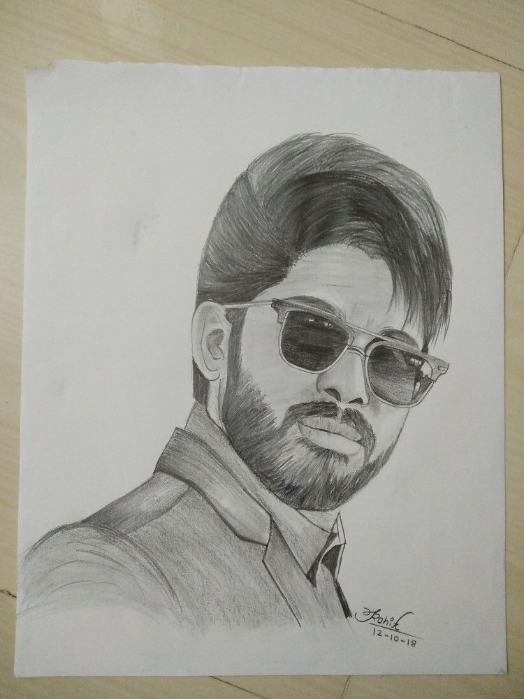 Sketch Of Allu Ajun Sketches Cool Sketches Girl Drawing Sketches