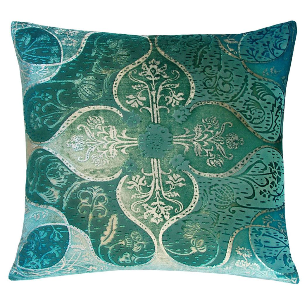 Persian velvet decorative throw pillow nectar imports home of