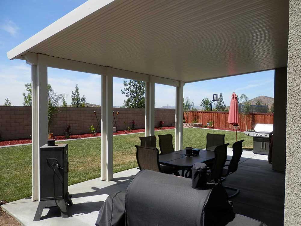 Orange County Solid Patio Cover Wood Vs Aluminum Patio Covers Corona California Construction Consultant Wood Patio Aluminum Patio Aluminum Patio Furniture