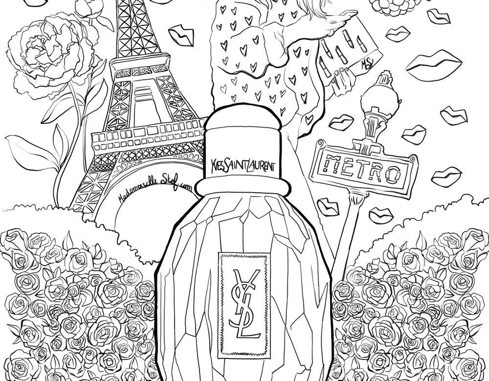 Pictures Parisienne Yves ColoriageParfum LaurentColoring Saint QdrCshxt