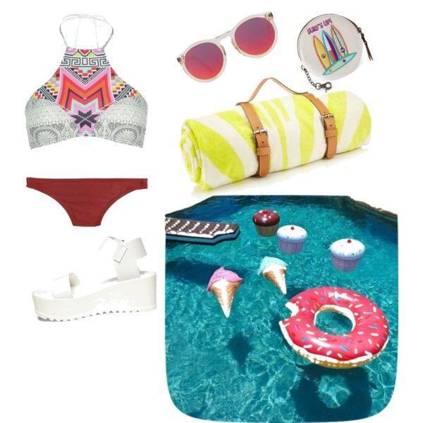 2# bikini by michaela-davidova on Polyvore featuring polyvore fashion style J.Crew Rip Curl Steve Madden The Sak Le Specs Maslin & Co.