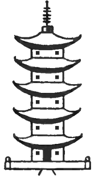 How To Draw A Cartoon Pagoda How To Draw Step By Step Drawing Tutorials Japanese Drawings Japanese Pagoda Art Drawings Simple