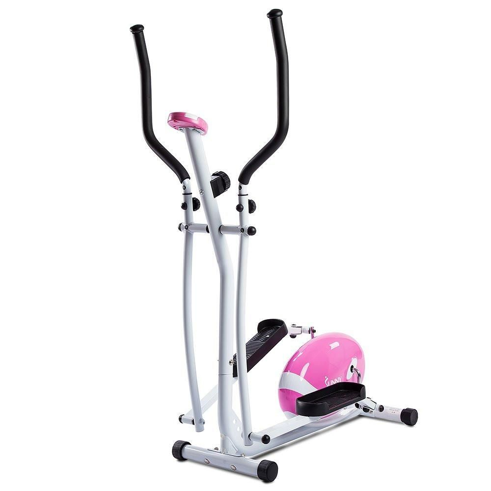 Sunny health fitness pink elliptical trainer