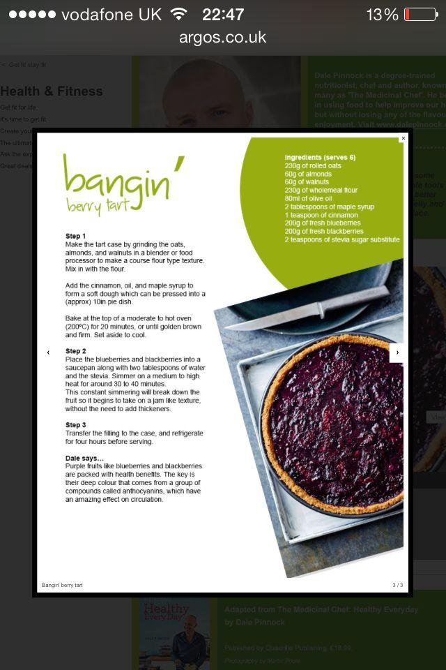 Dale Pinnock's healthy dessert option - Bangin' Berry Tart!