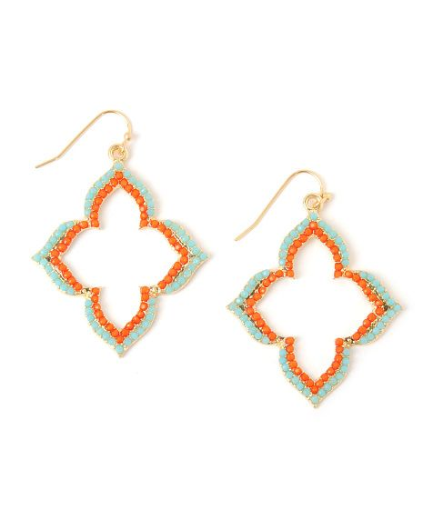 Panacea Double Row Pointy Clover Earrings