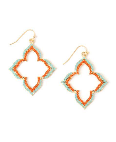Panacea Double Row Pointy Clover Earrings