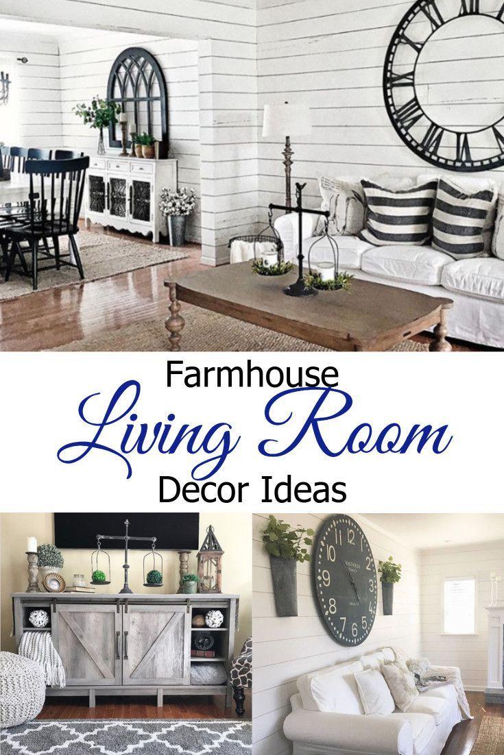 Farmhouse Living Rooms} • Modern Farmhouse Living Room Decor Ideas ...