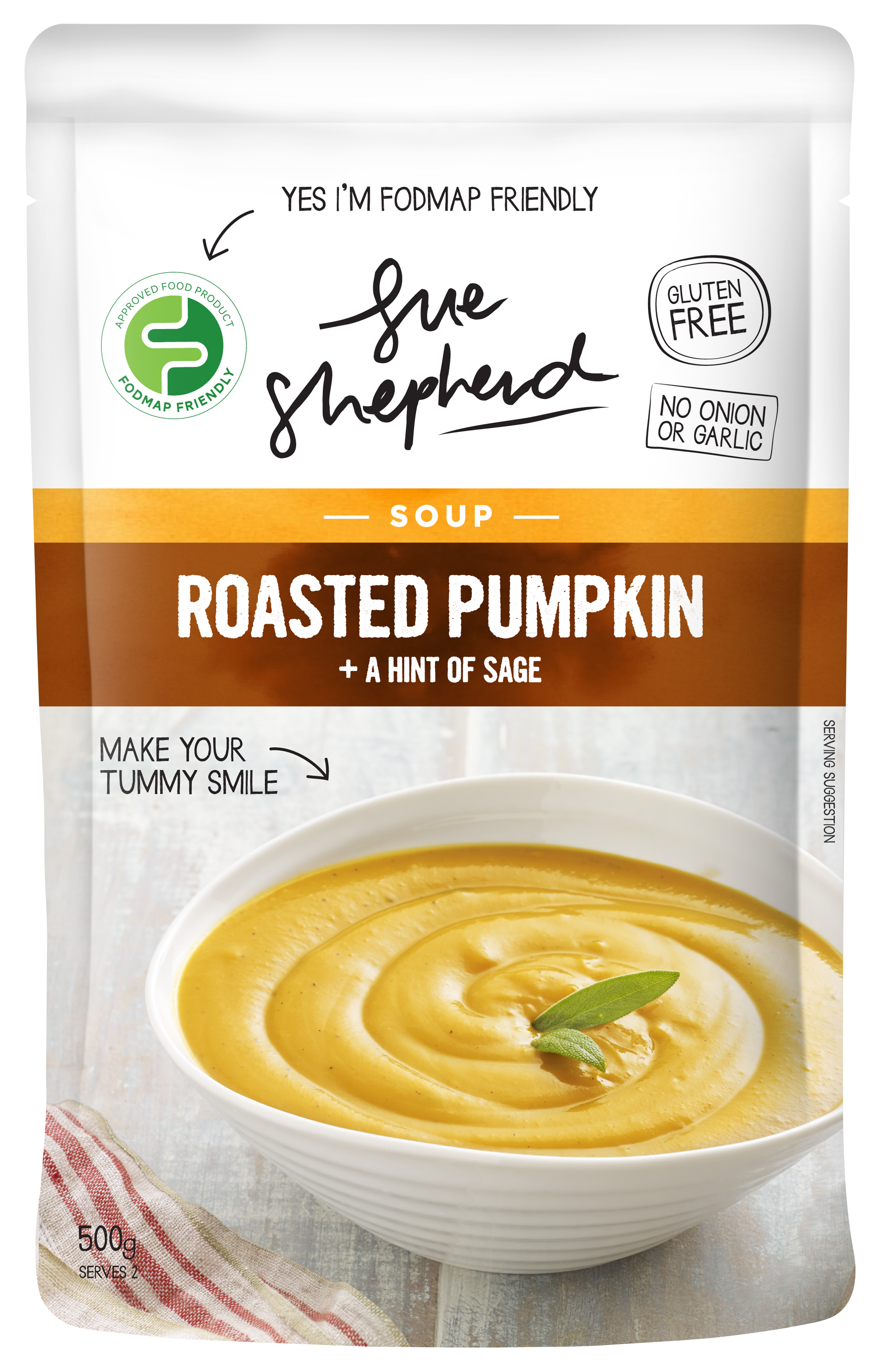 Roasted Pumpkin A Hint of Sage Soup | FODMAP Friendly food products ...