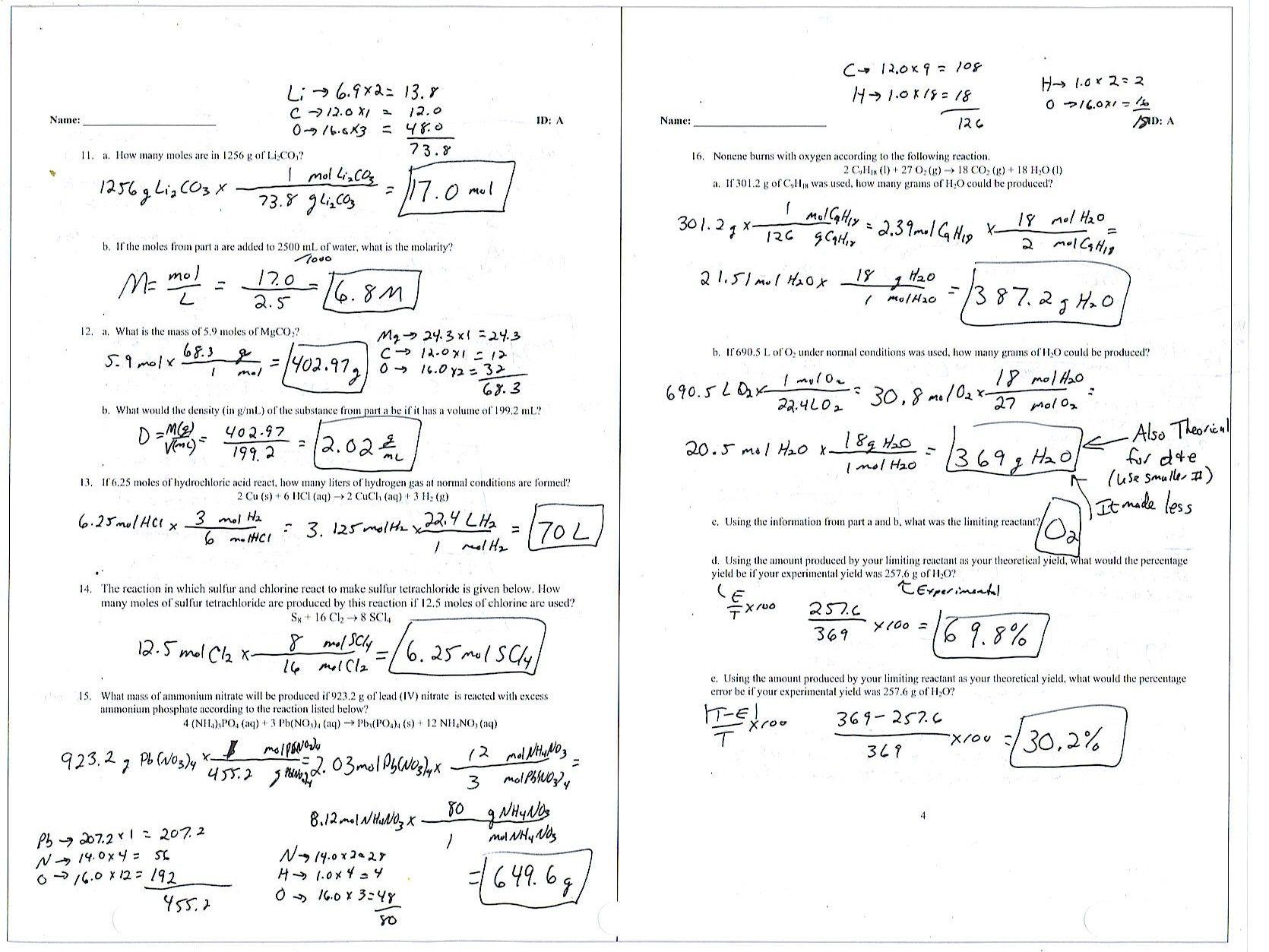 Free Worksheets Empirical Formula Worksheet Answers Free Math