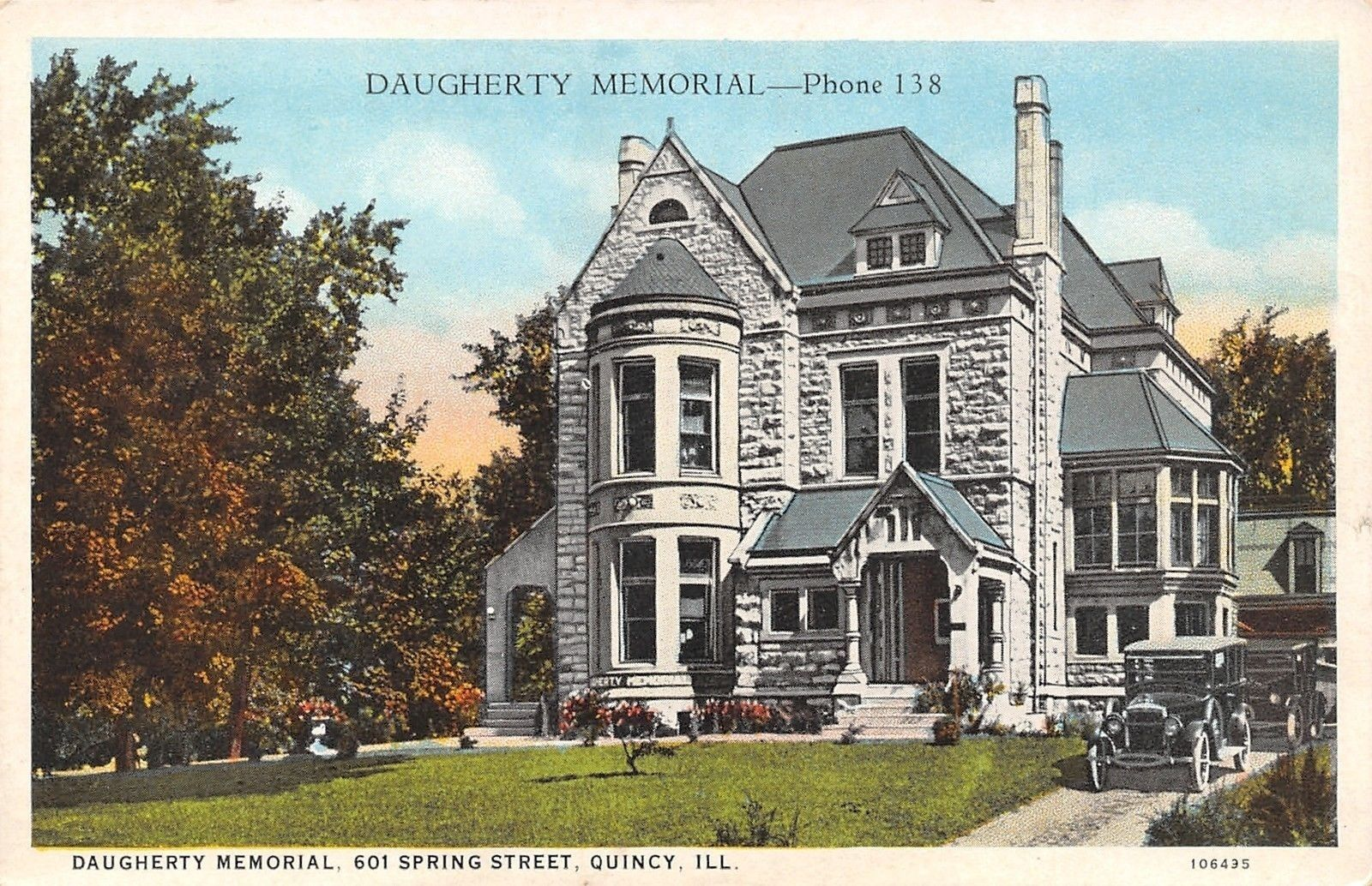 I Have This Original Postcard Of Daugherty Memorial Funeral Home 1920s Beautiful Building Still Stands Today Haunted Places Beautiful Buildings Funeral Home