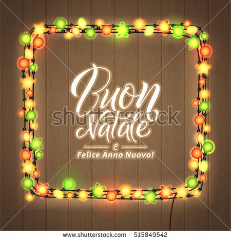 Merry christmas and happy new year italian language glowing merry christmas and happy new year italian language glowing christmas lights wreath for xmas m4hsunfo