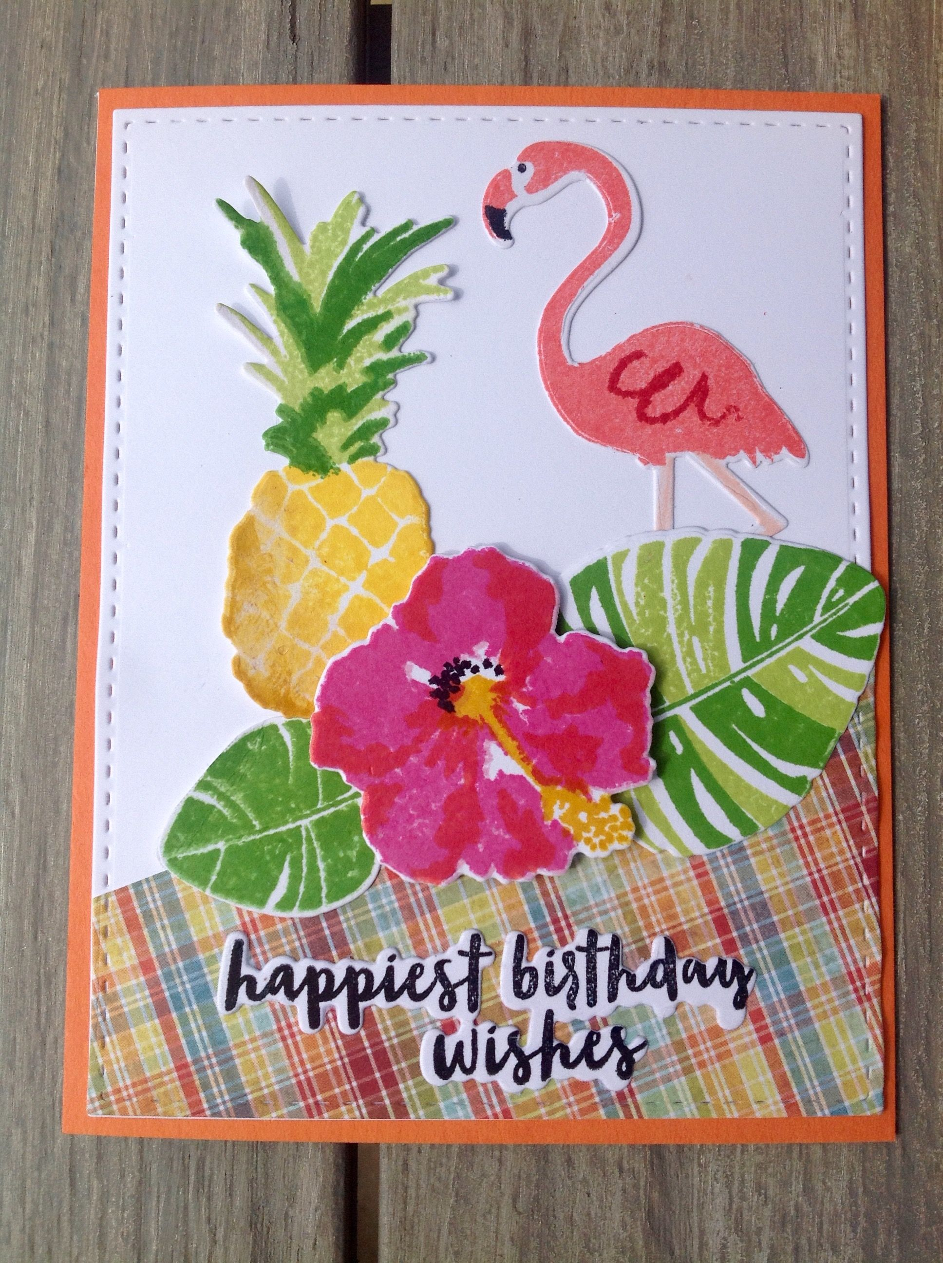 Birthday card for another sweet August friend by janisdesigns