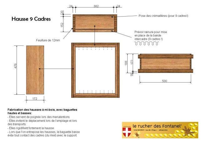 fabrication et plan de ruche dadant 10 cadres apiculture pinterest ruches cadres et plans. Black Bedroom Furniture Sets. Home Design Ideas