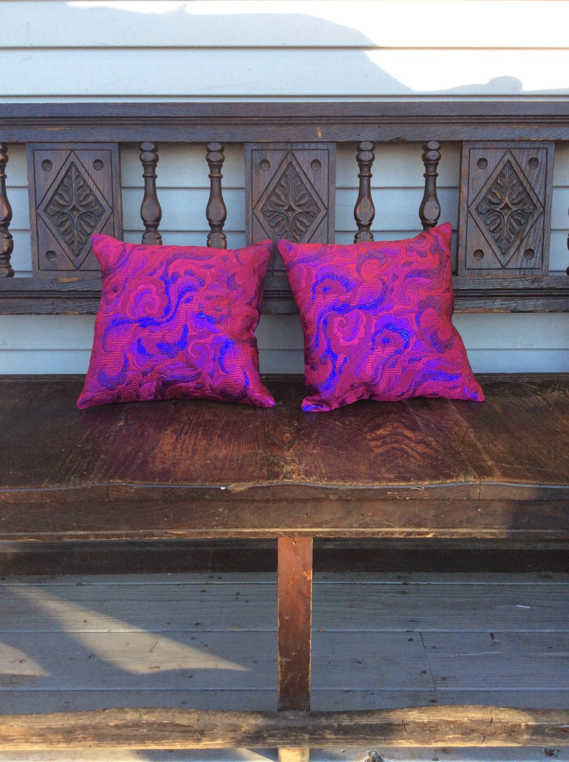 Pillow, decorative throw pillow case 12 inches by 12 inches by CooperSeal on Etsy