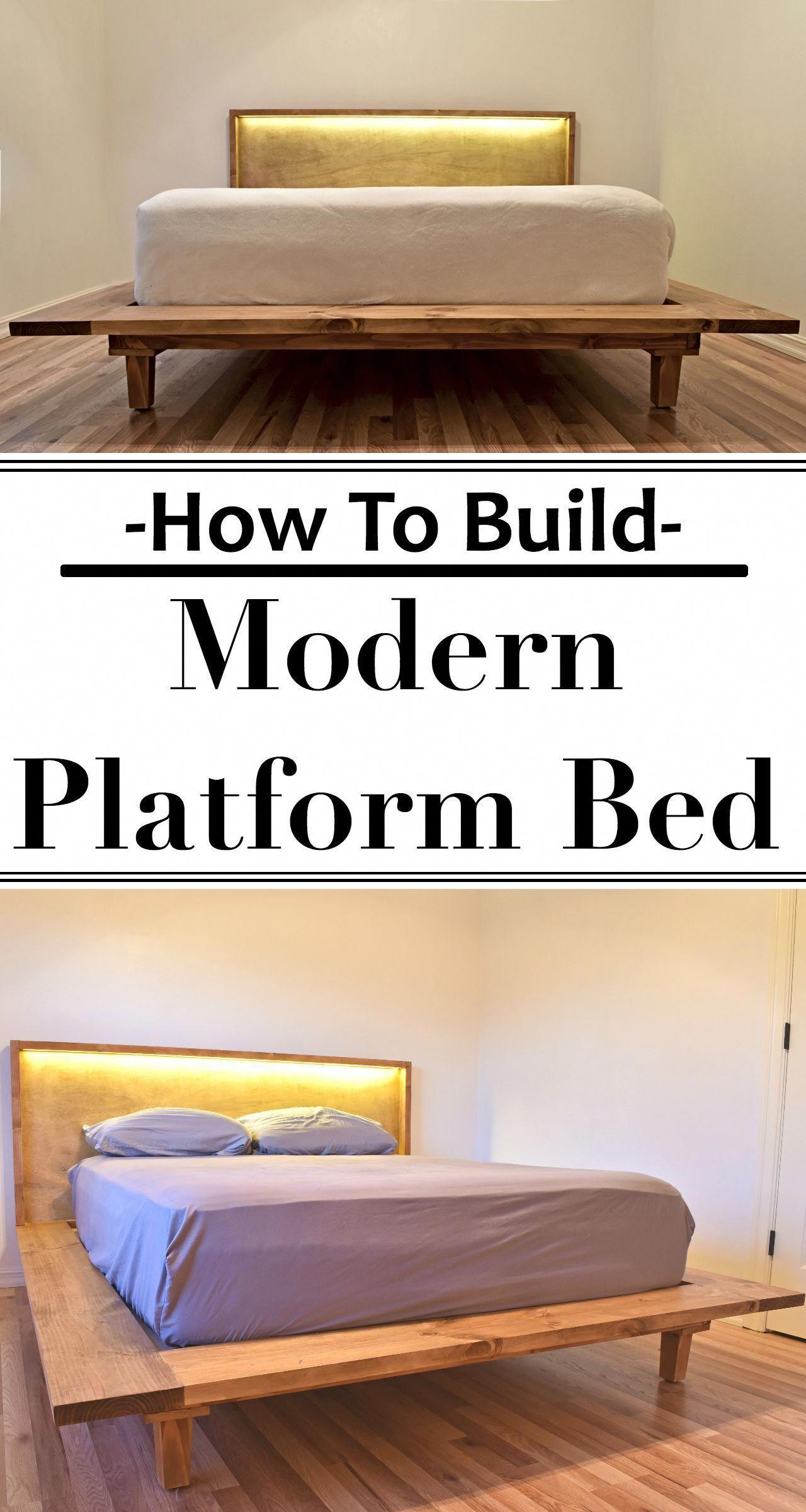 how to build a modern platform bed woodworking workshop decor rh pinterest com