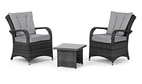 San Diego Rattan Garden Furniture Houston Grey Piece Lounge Set