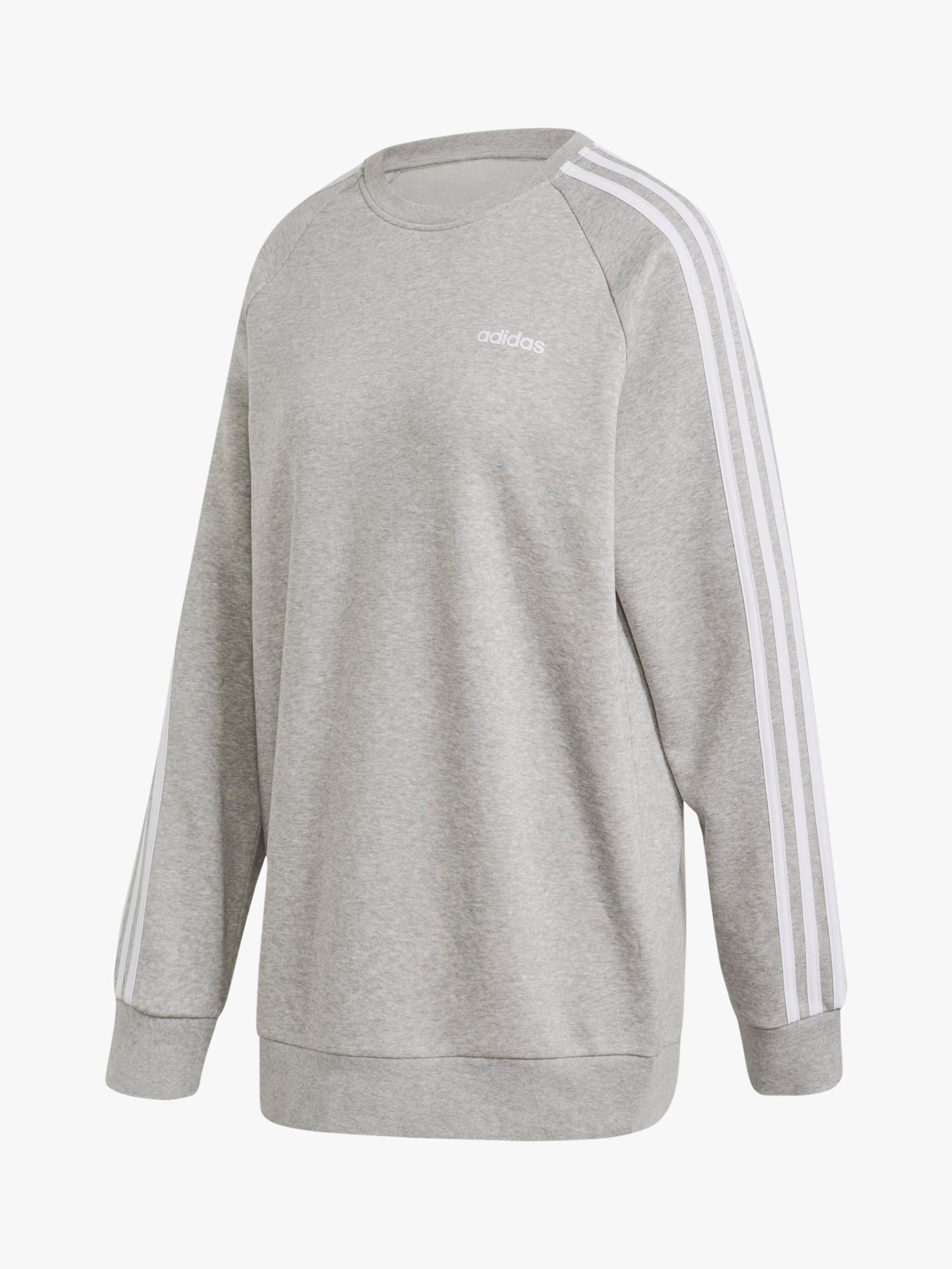 adidas Essentials Boyfriend Crew Sweatshirt, Medium Grey