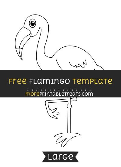 Free flamingo template large shapes and templates printables free flamingo template large pronofoot35fo Images