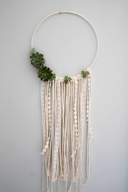 Diy Floral Wall Hanging Dreamcatcher Easy Diy Wall Hanging Wall Hanging Diy Diy Wall Art